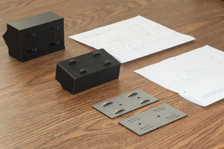 Steel inserts for 3D printed parts