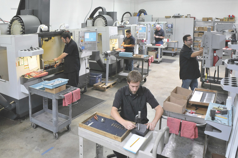 Series of 3D printers used in manufacturing processes