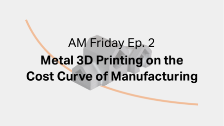 AM Friday Ep. 2 — Metal 3D Printing on the Cost Curve of Manufacturing