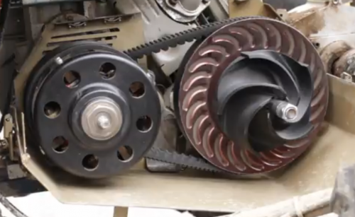 Impeller installed on CVT