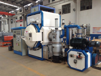 A vacuum furnace used for sintering 3d printed metal parts.