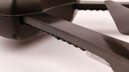 Close view of 3d printed drone surface finish