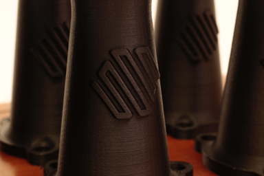 A close-up look at the surface finish of Onyx.