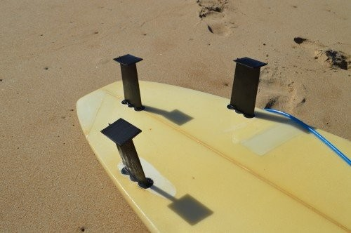 The board with Onyx fins attached