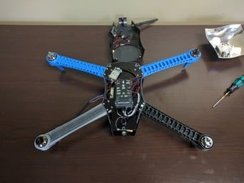The IRIS+ drone with a 3D printed arm.
