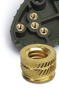 Heat set inserts are designed for plastics.
