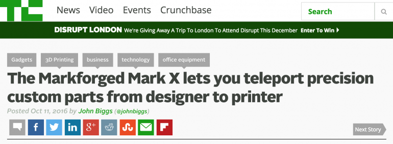 TechCrunch Reviews Mark X's Precision Design