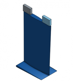 CAD of a the surfboard fin.