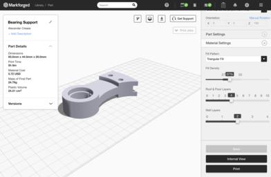 3D printing infill settings