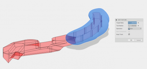 A boolean subtract is really useful for overprinting, mold design, and other manufacturing processes.