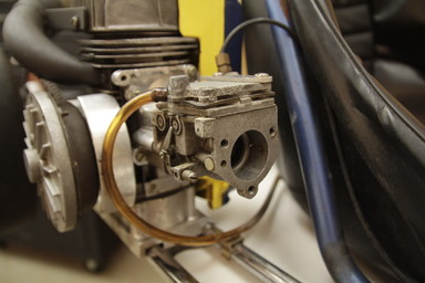The air intake of a go-kart.