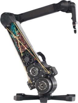 Robot arm with 3D printed composite parts