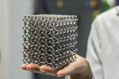 3D printed stainless steel lattice