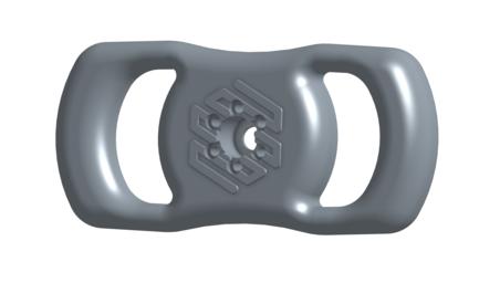Version 2 of the 3D printed steering wheel.