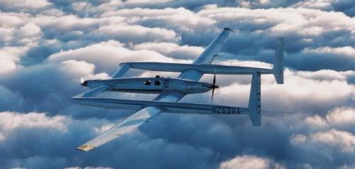 The Rutan Voyager in flight.