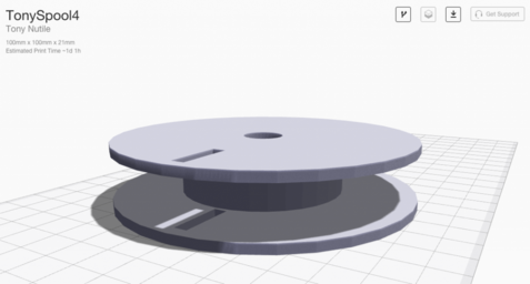 3D printed spool