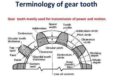 Parts of a gear
