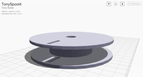 3D printed spool