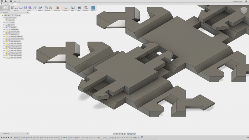 This allows the printer to print this as a single part with flexible sections.