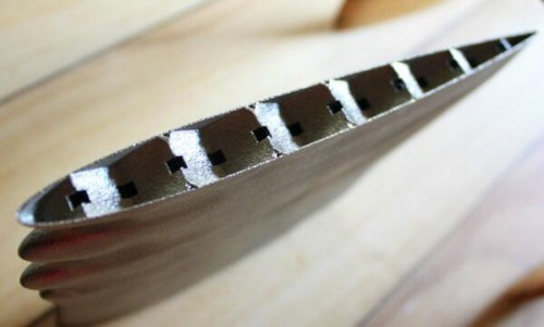Surfboard fin cross section
